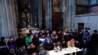 Refugeecamp in der Votivkirche